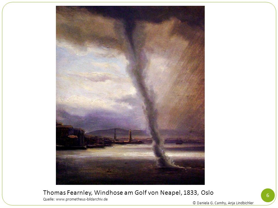 Thomas Fearnley, Windhose am Golf von Neapel, 1833, Oslo
