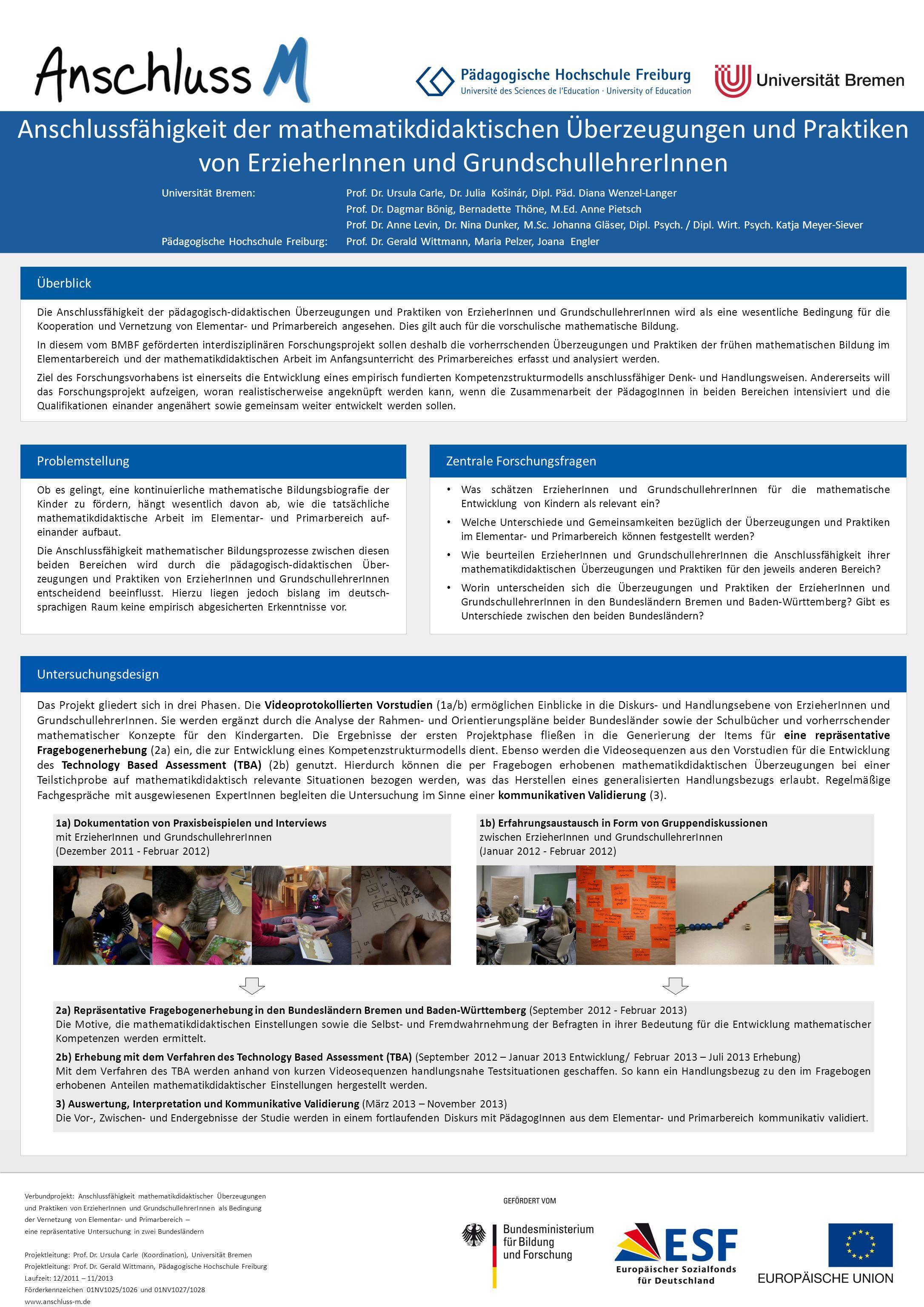 Anschlussfähigkeit der mathematikdidaktischen Überzeugungen und Praktiken von ErzieherInnen und GrundschullehrerInnen