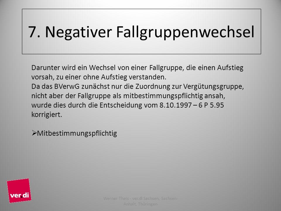 7. Negativer Fallgruppenwechsel