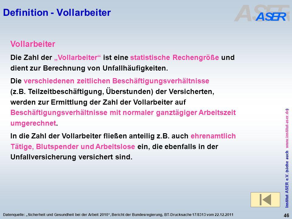 Definition - Vollarbeiter