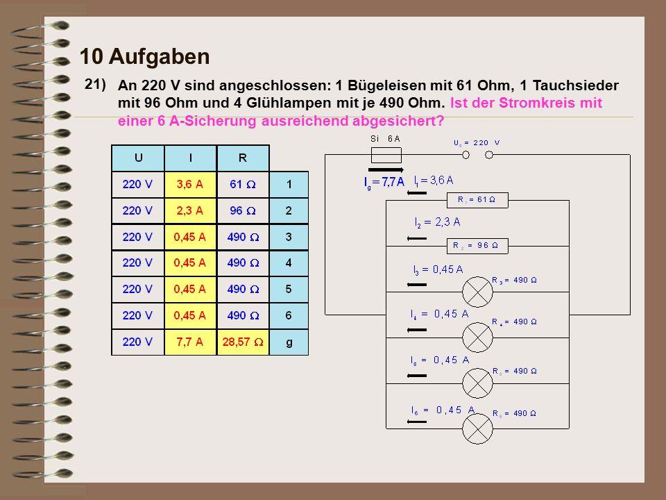 10 Aufgaben 21)