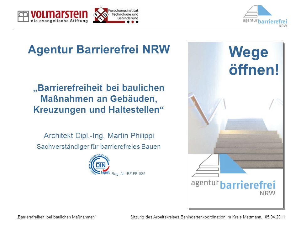 Wege öffnen! Agentur Barrierefrei NRW