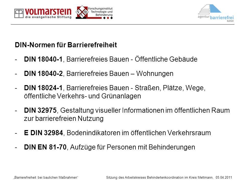 DIN-Normen für Barrierefreiheit