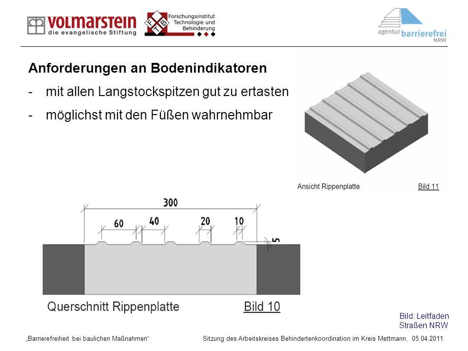 Anforderungen an Bodenindikatoren