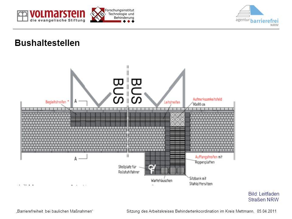 Bushaltestellen Bild: Leitfaden Straßen NRW