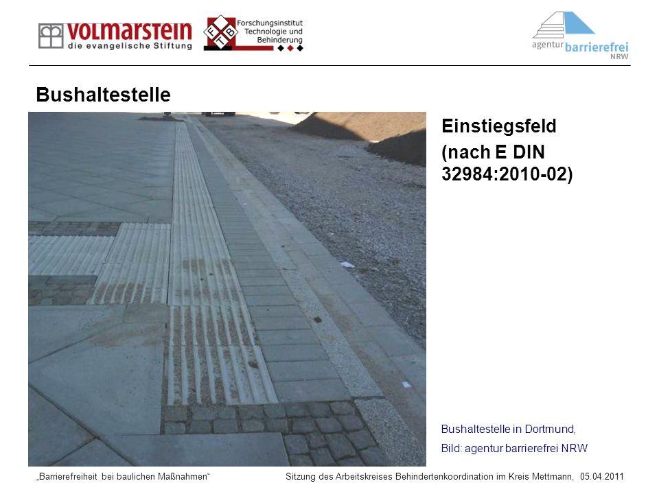 Bushaltestelle Einstiegsfeld (nach E DIN 32984:2010-02)
