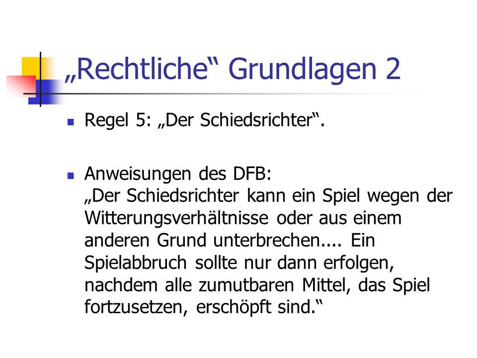 """""""Rechtliche Grundlagen 2"""