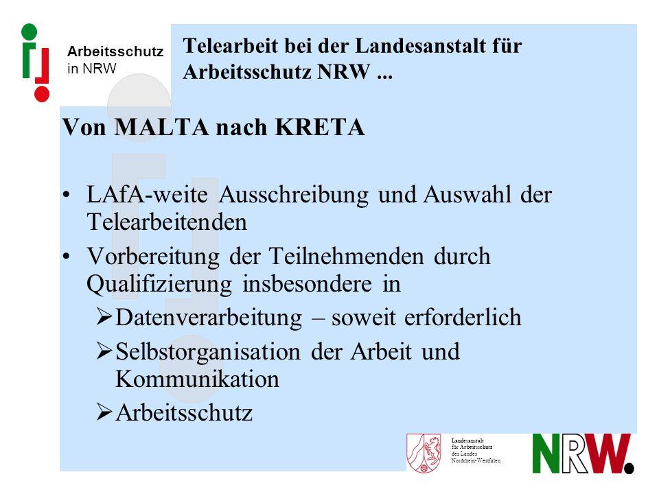 Telearbeit bei der Landesanstalt für Arbeitsschutz NRW ...