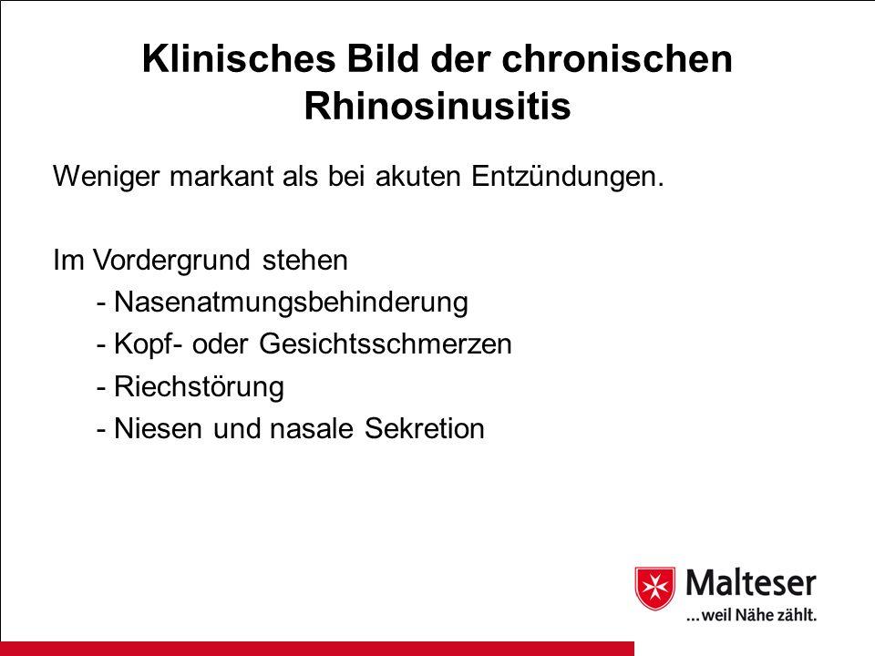 Klinisches Bild der chronischen Rhinosinusitis