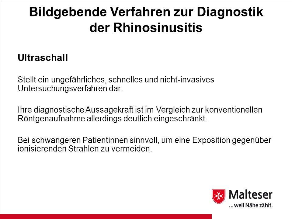 Bildgebende Verfahren zur Diagnostik der Rhinosinusitis