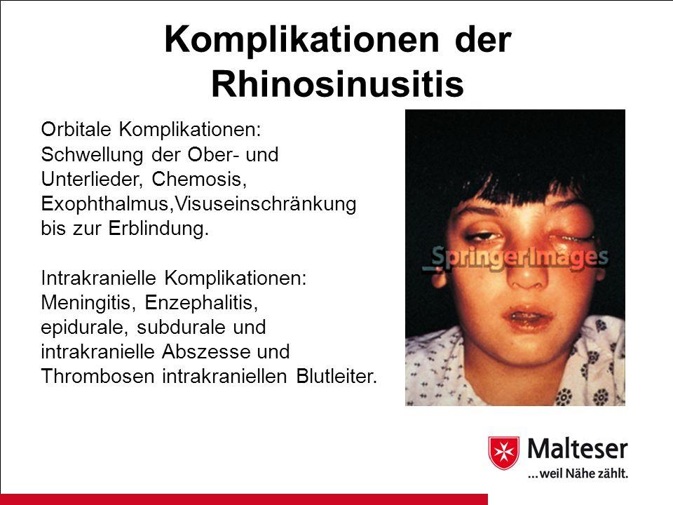 Komplikationen der Rhinosinusitis