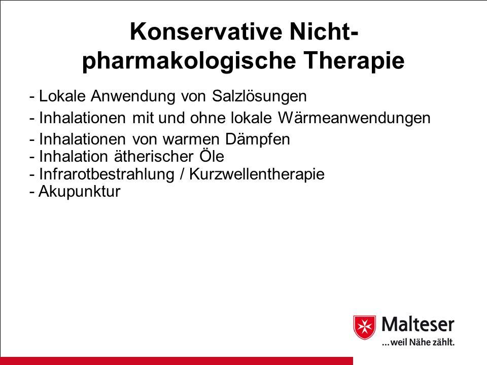 Konservative Nicht-pharmakologische Therapie