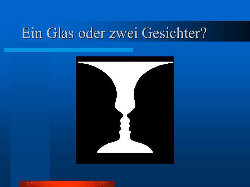 Ein Glas oder zwei Gesichter
