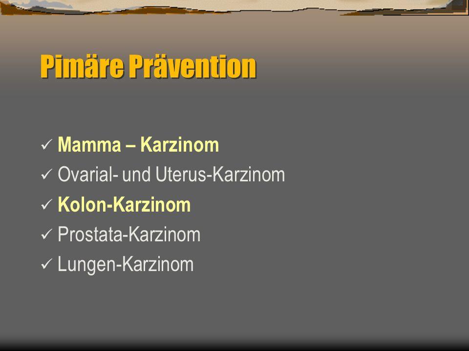 Pimäre Prävention Mamma – Karzinom Ovarial- und Uterus-Karzinom