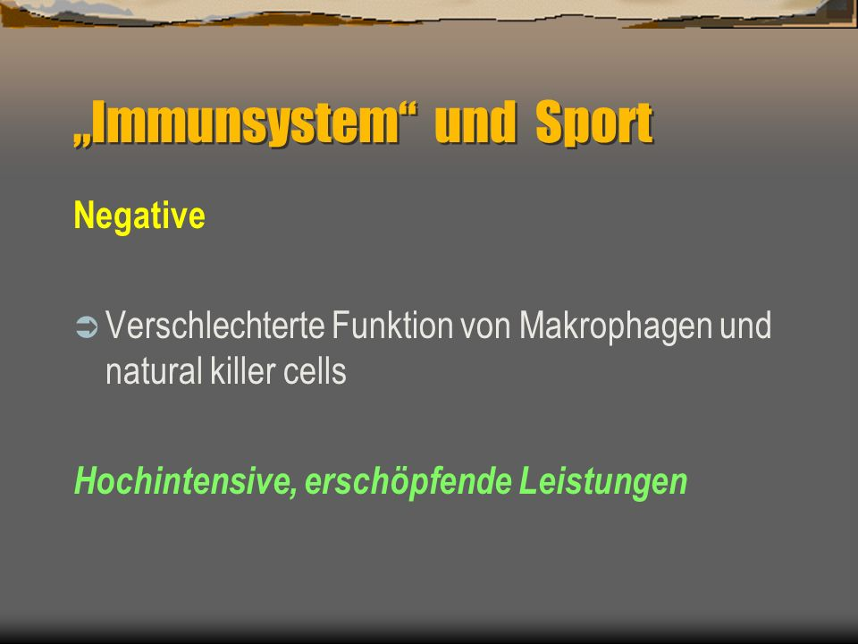 """""""Immunsystem und Sport"""