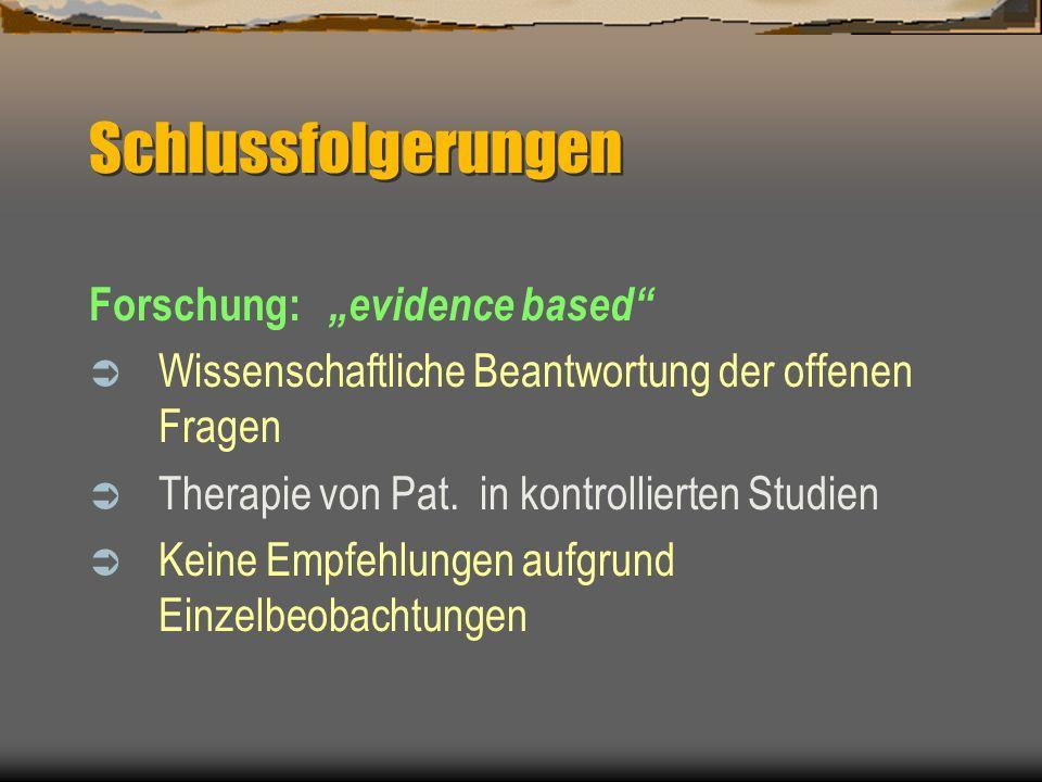 """Schlussfolgerungen Forschung: """"evidence based"""