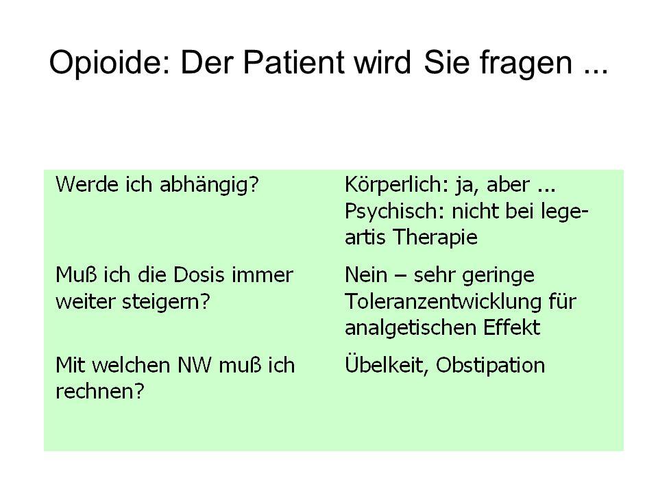 Opioide: Der Patient wird Sie fragen ...