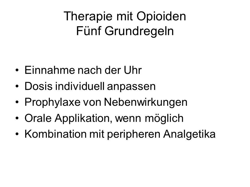 Therapie mit Opioiden Fünf Grundregeln