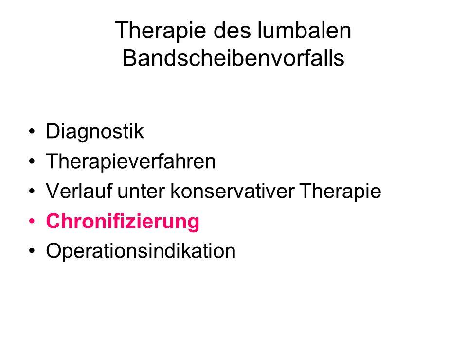 Therapie des lumbalen Bandscheibenvorfalls