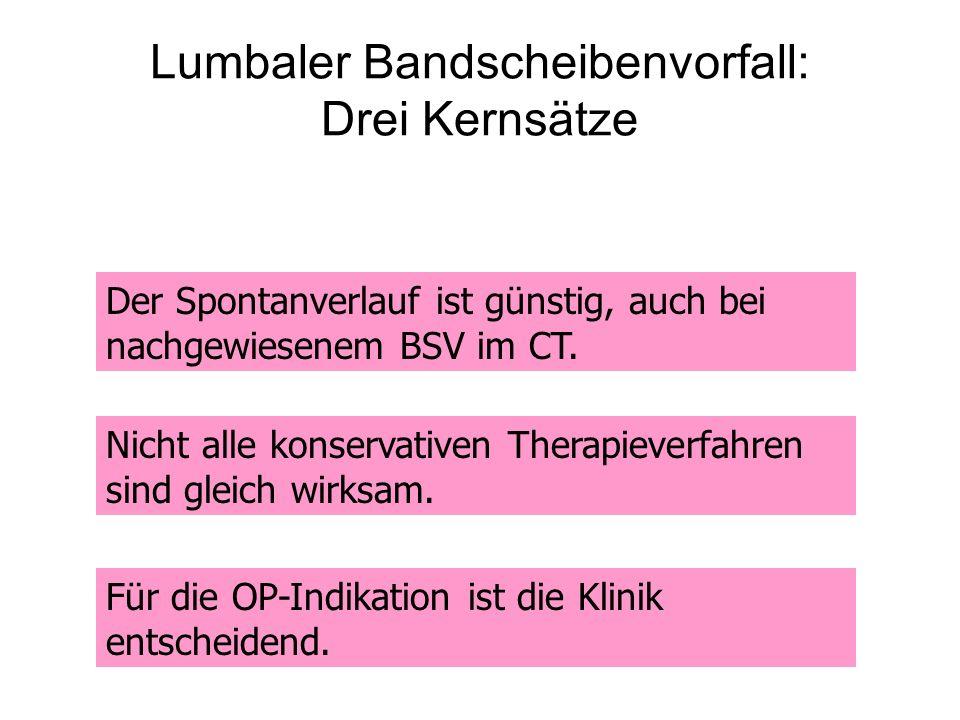 Lumbaler Bandscheibenvorfall: Drei Kernsätze