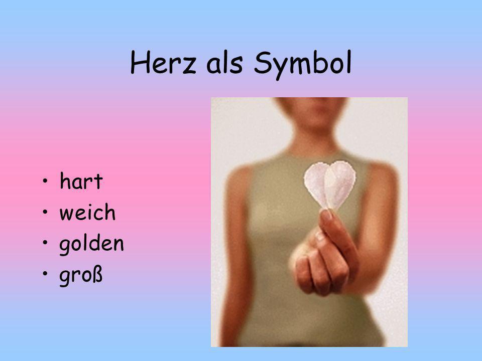 Herz als Symbol hart weich golden groß