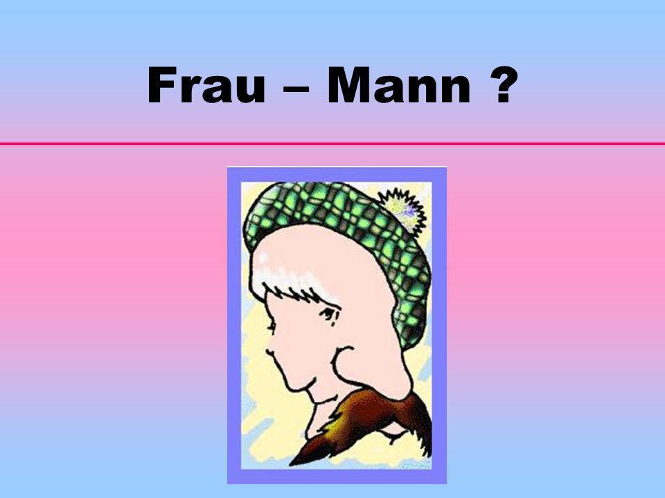 Frau – Mann