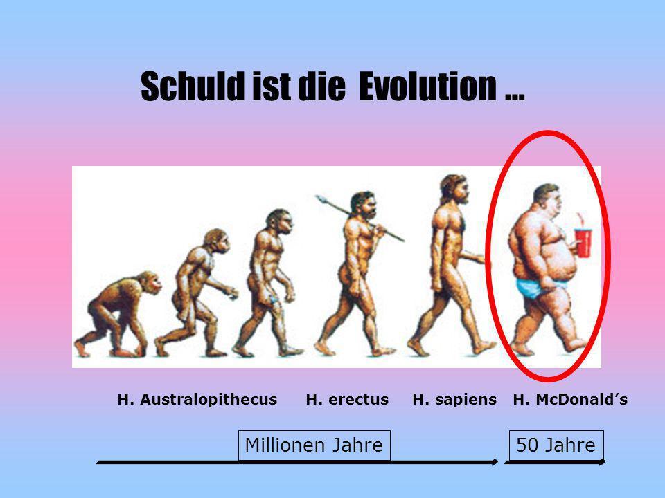 Schuld ist die Evolution …