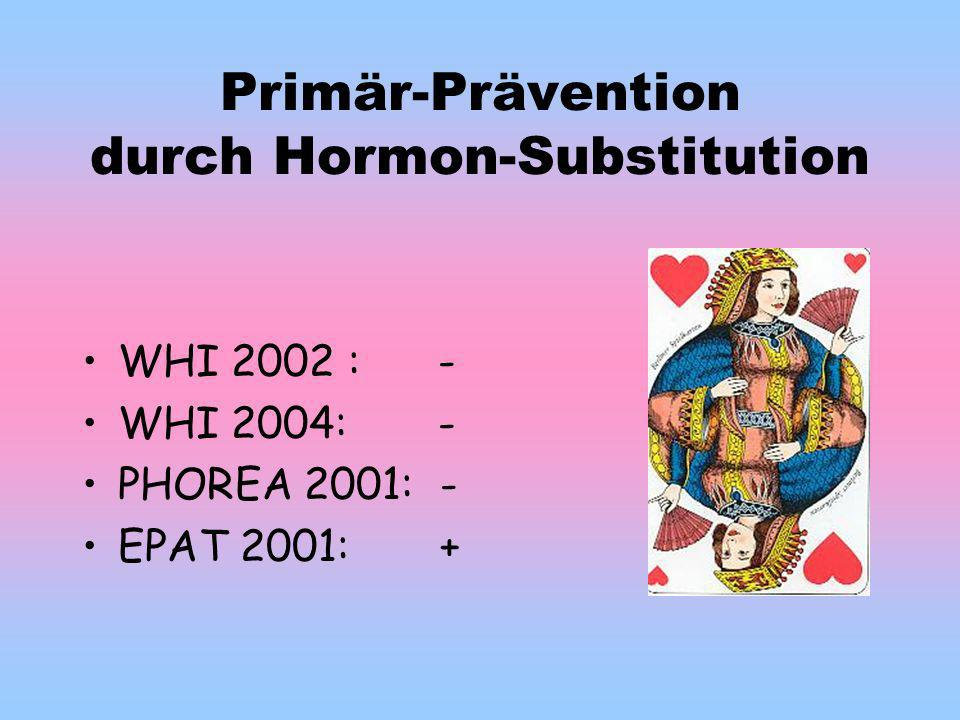Primär-Prävention durch Hormon-Substitution