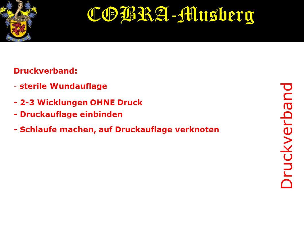 COBRA-Musberg Druckverband Druckverband: - sterile Wundauflage