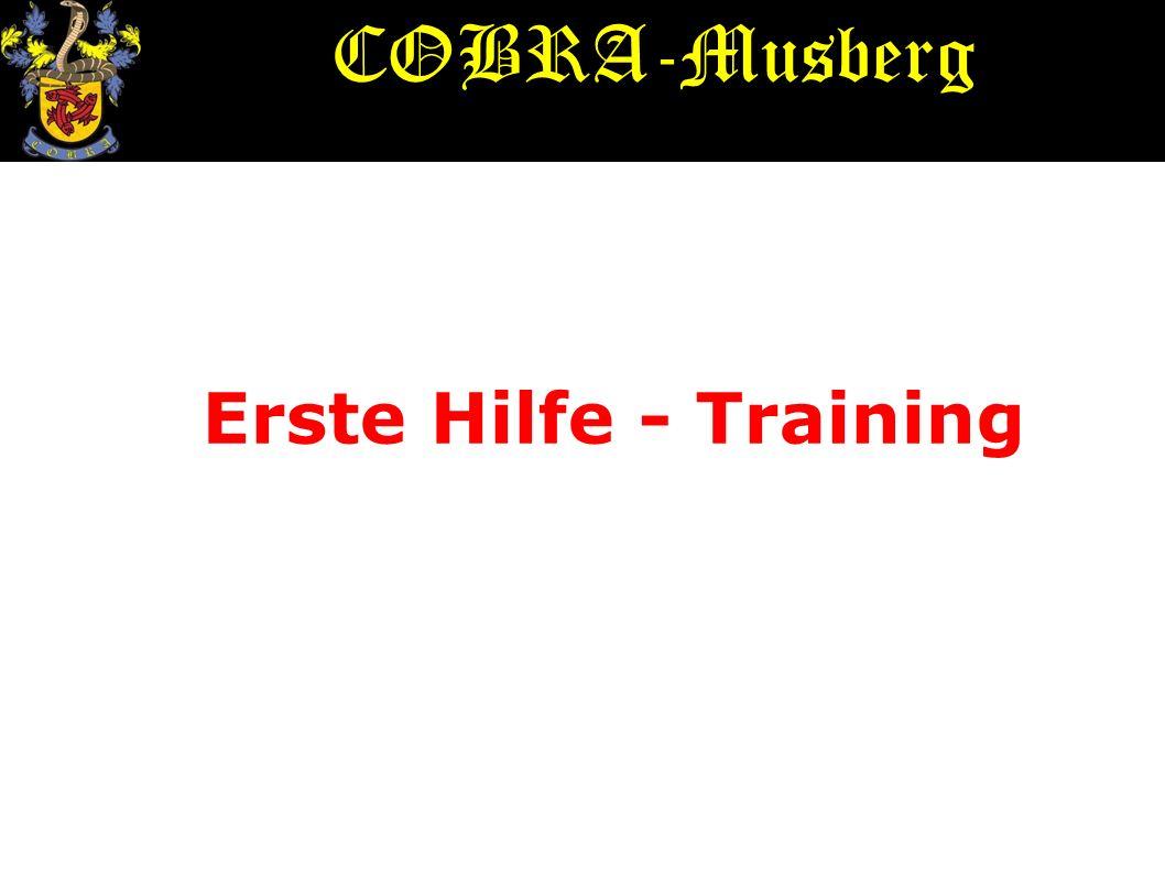 COBRA-Musberg Erste Hilfe - Training