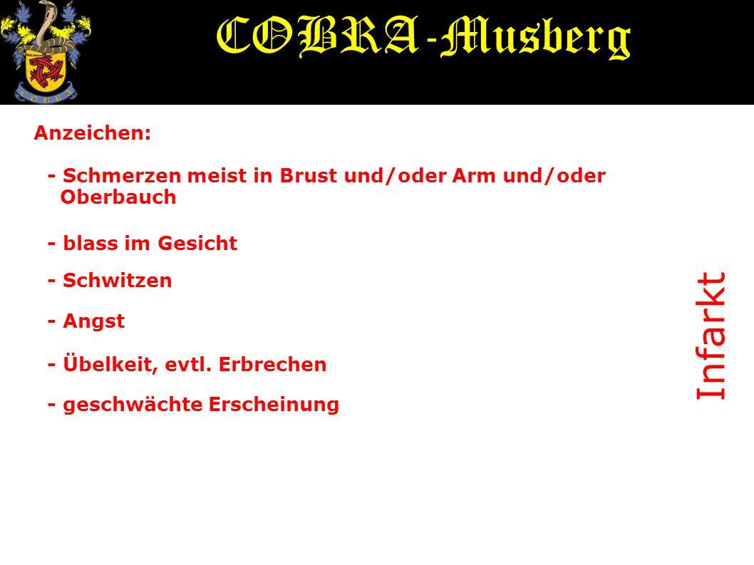 COBRA-Musberg Infarkt Anzeichen: