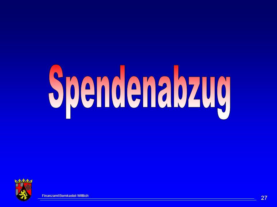 Spendenabzug Finanzamt Bernkastel-Wittlich