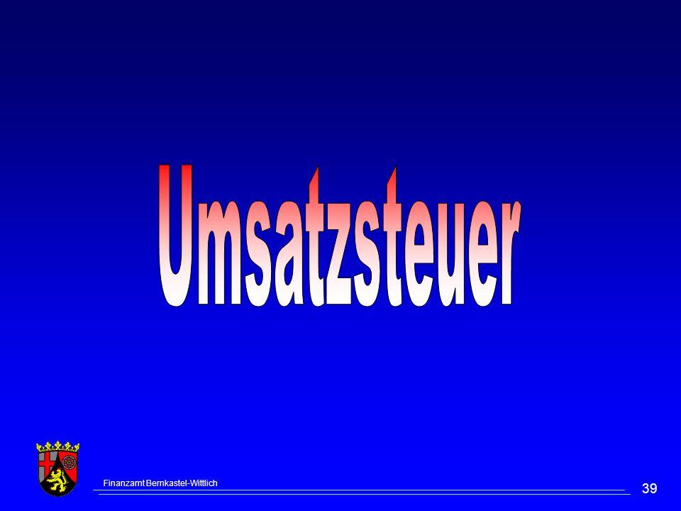 Umsatzsteuer Finanzamt Bernkastel-Wittlich
