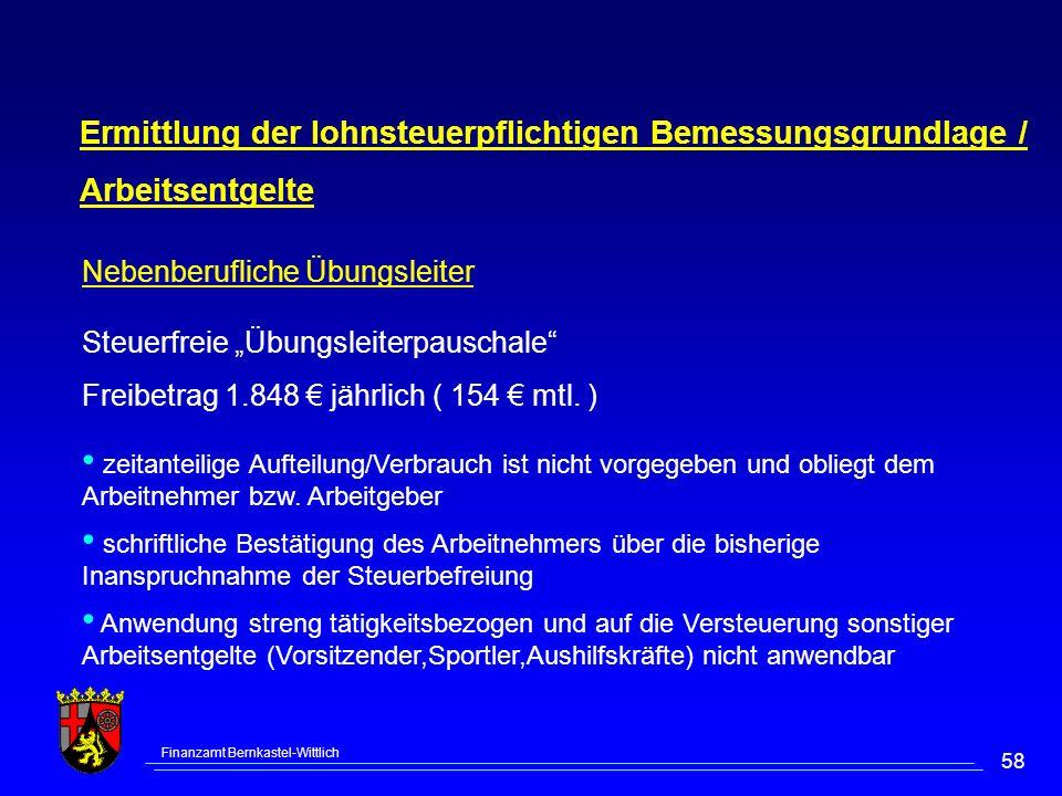 Ermittlung der lohnsteuerpflichtigen Bemessungsgrundlage /
