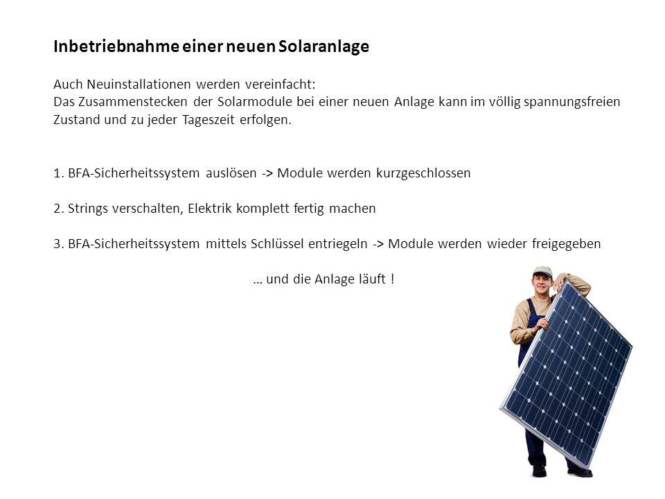 Inbetriebnahme einer neuen Solaranlage