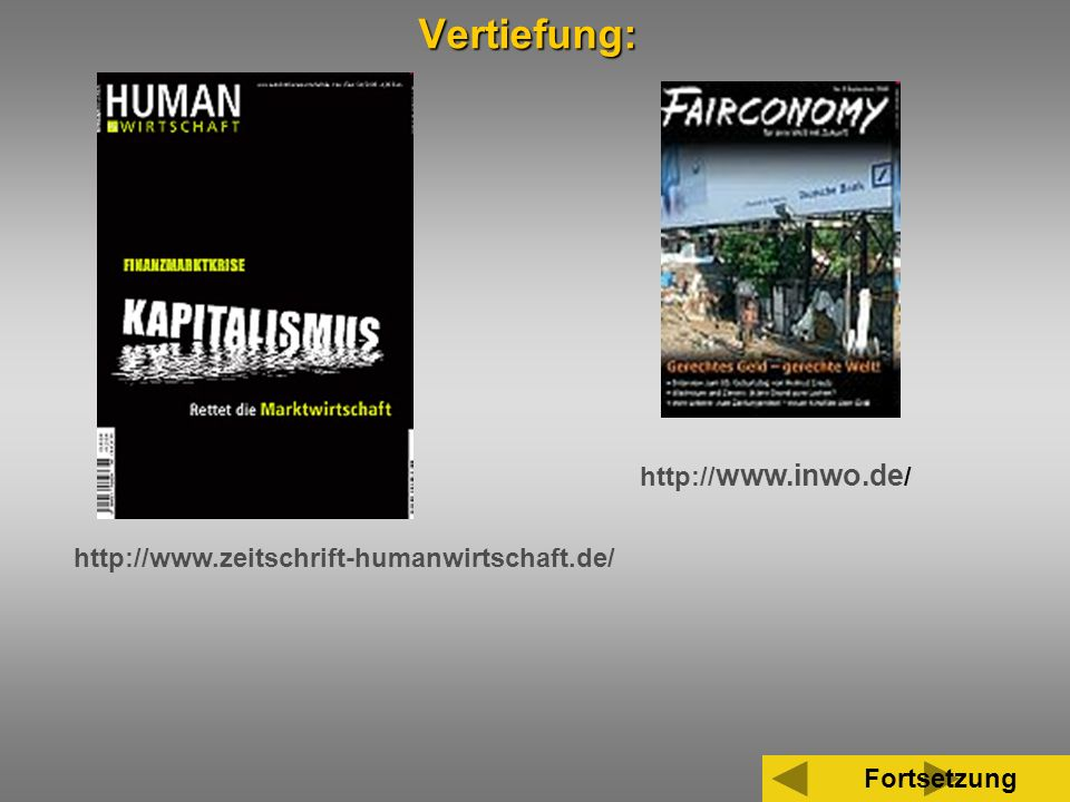 Vertiefung: http://www.inwo.de/