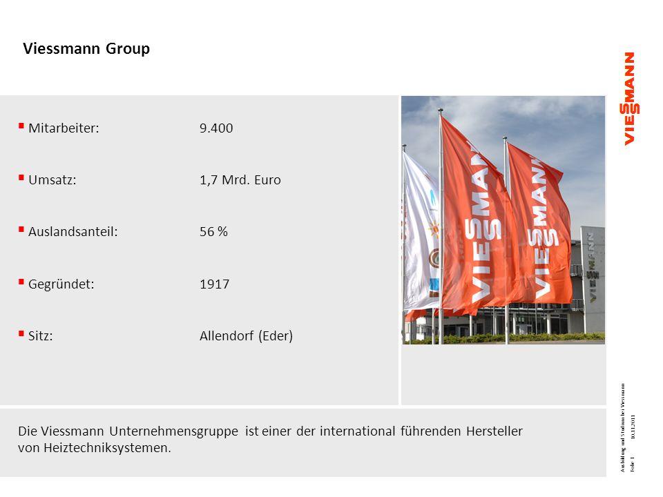 Viessmann Group Mitarbeiter: 9.400 Umsatz: 1,7 Mrd. Euro