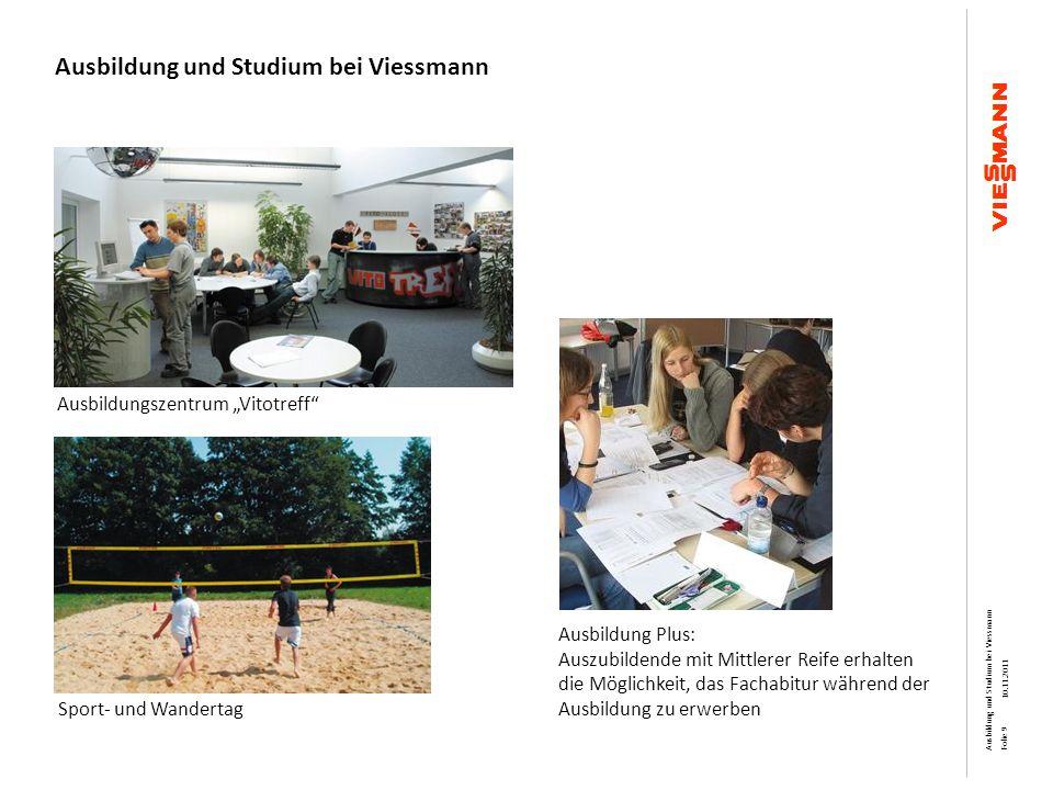 Ausbildung und Studium bei Viessmann