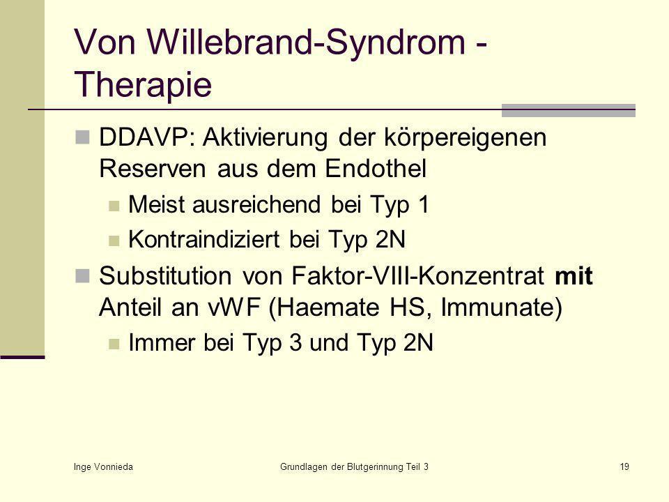 Von Willebrand-Syndrom - Therapie