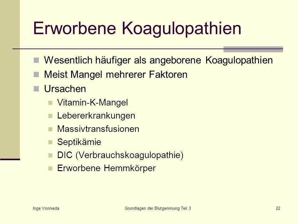 Erworbene Koagulopathien