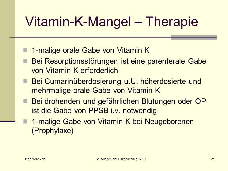 Vitamin-K-Mangel – Therapie