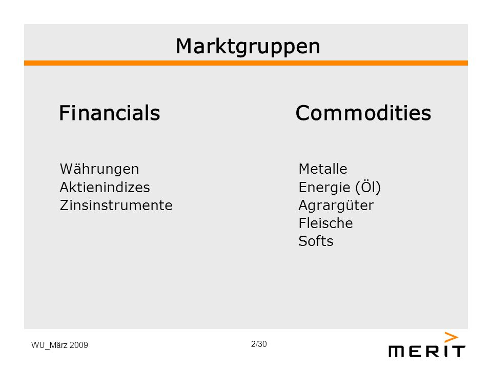 Financials Commodities