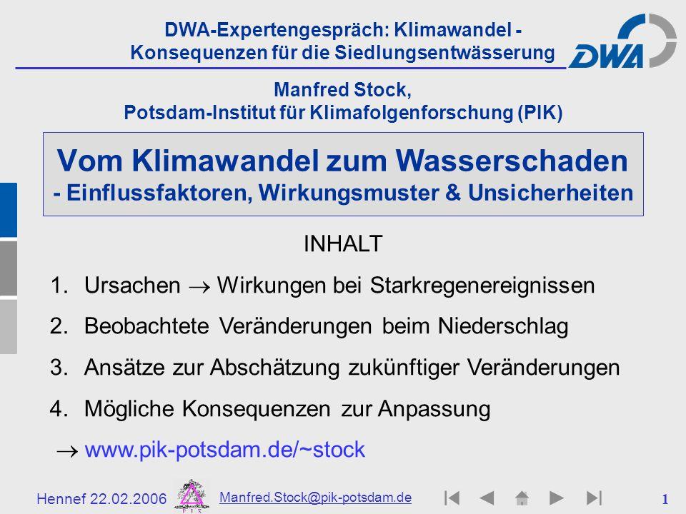 Manfred Stock, Potsdam-Institut für Klimafolgenforschung (PIK)