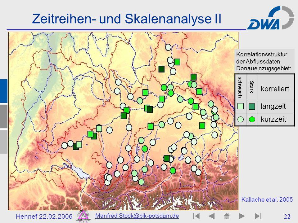 Zeitreihen- und Skalenanalyse II