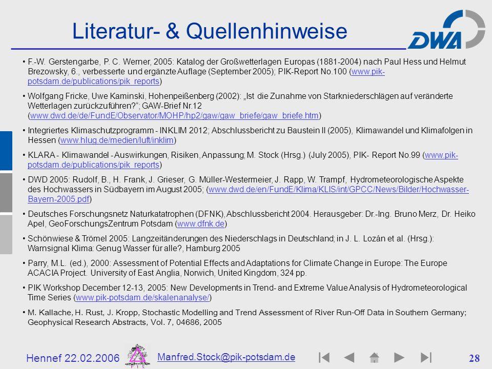 Literatur- & Quellenhinweise