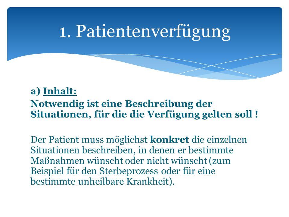 1. Patientenverfügung