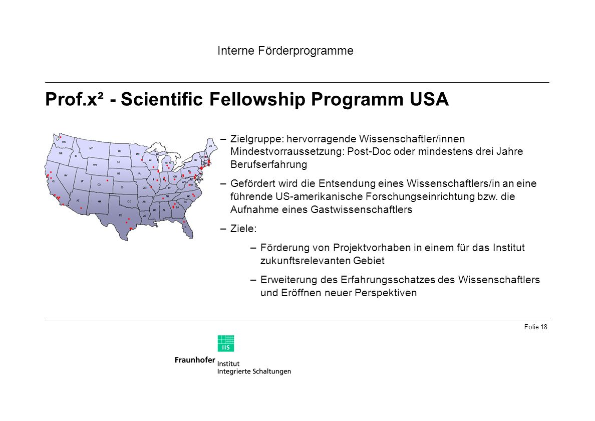 Prof.x² - Scientific Fellowship Programm USA