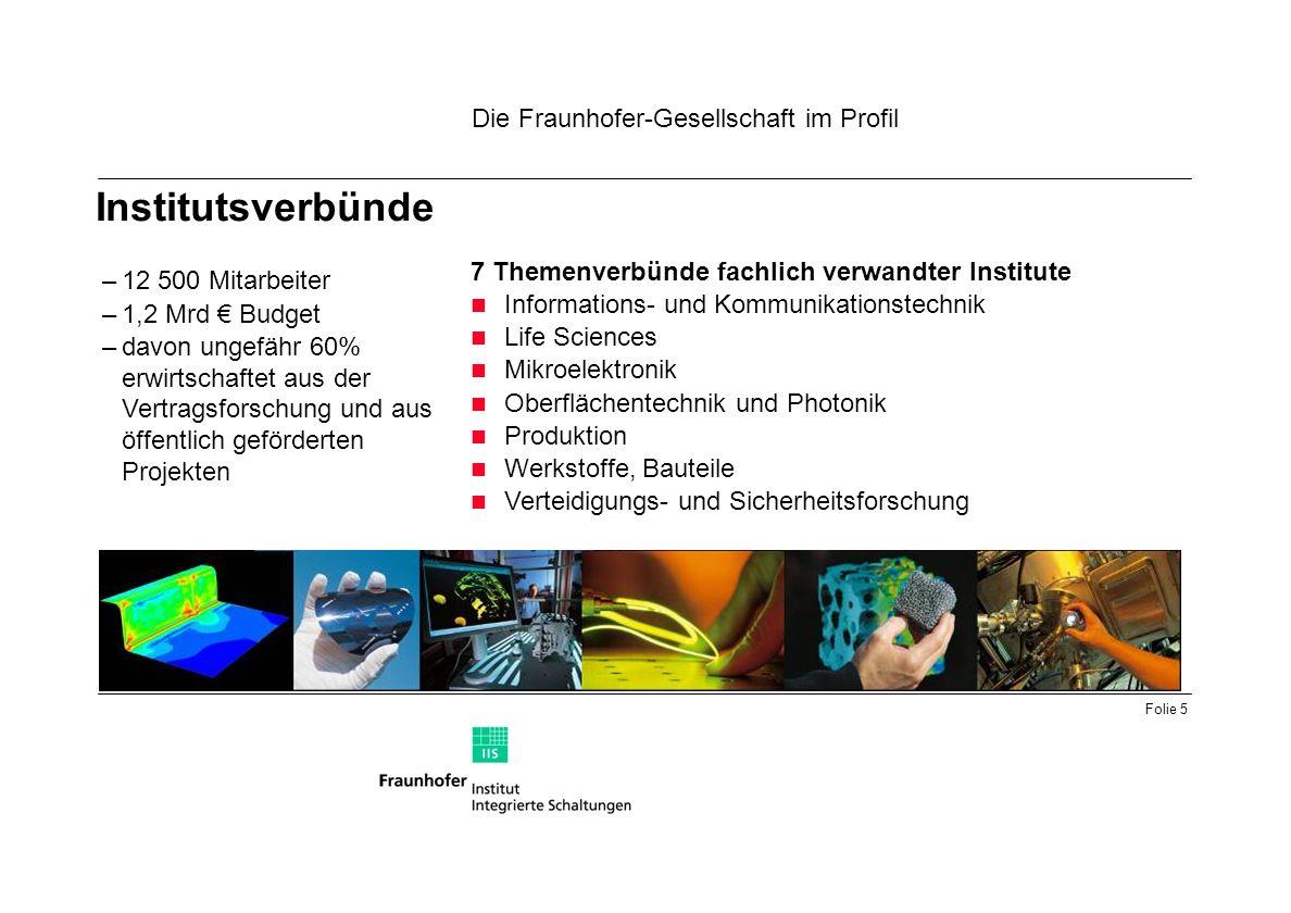 Institutsverbünde Die Fraunhofer-Gesellschaft im Profil