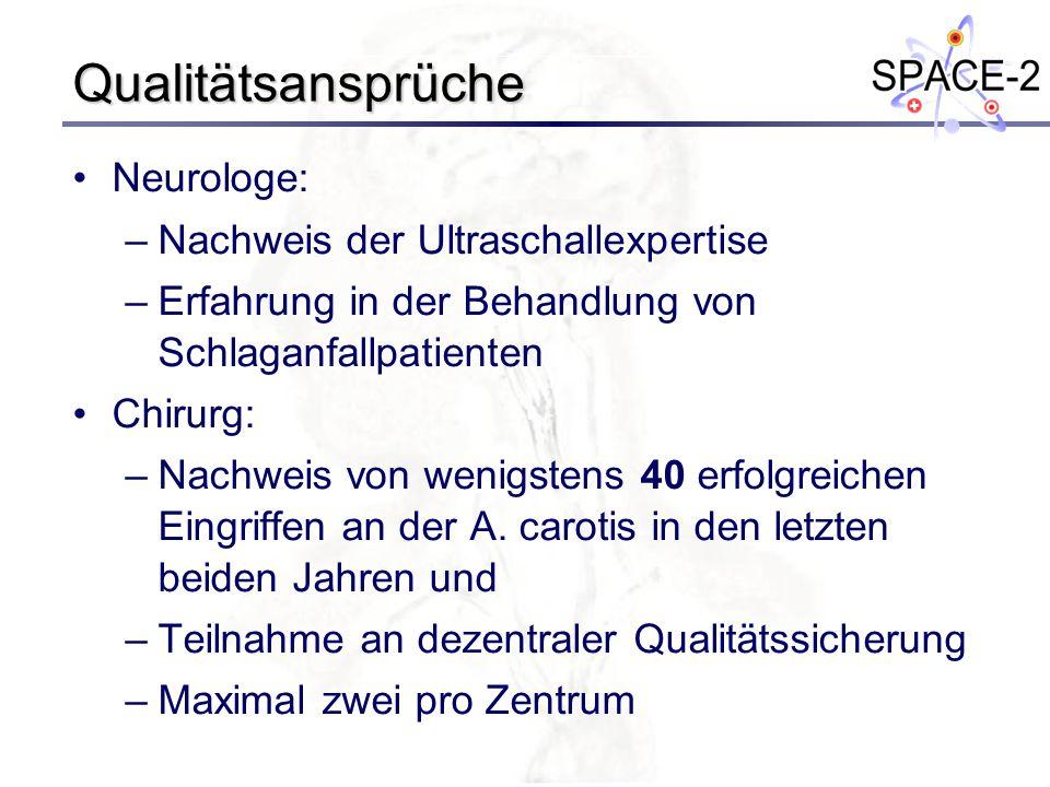 Qualitätsansprüche Neurologe: Nachweis der Ultraschallexpertise