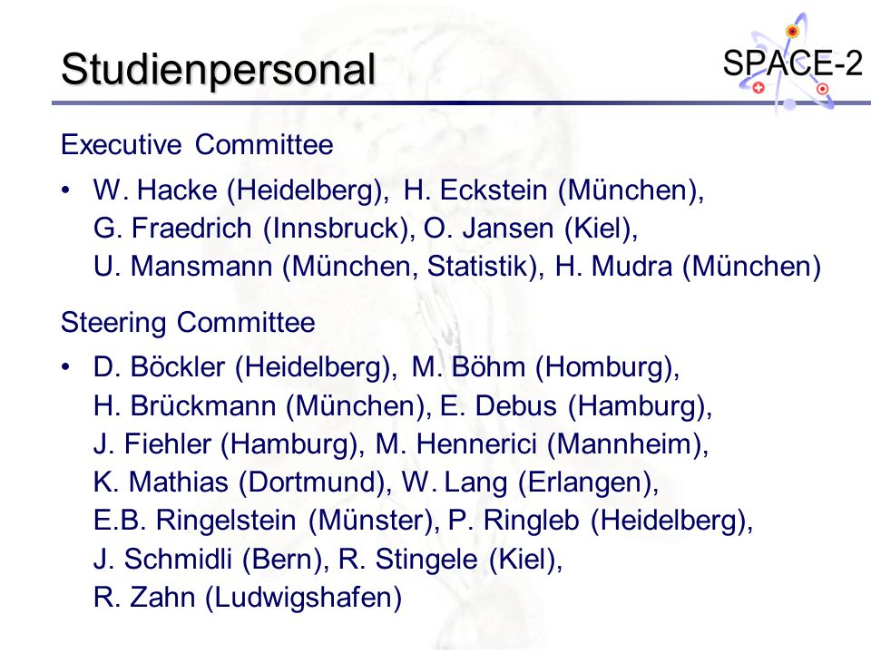 Studienpersonal Executive Committee